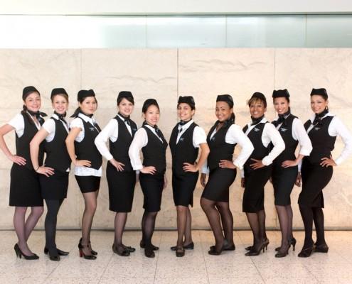 Flight Attendants Professional Group Photo